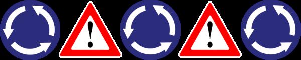 נסיעה נכונה במעגל תנועה דו מסלולי